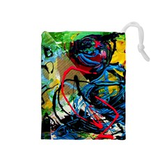 Rumba On A Chad Lake 4 Drawstring Pouches (medium)  by bestdesignintheworld
