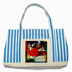 Catalina Island Not So Far 1 Striped Blue Tote Bag by bestdesignintheworld