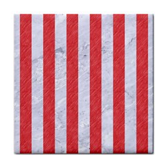 Stripes1 White Marble & Red Colored Pencil Face Towel