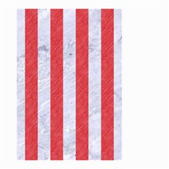 Stripes1 White Marble & Red Colored Pencil Small Garden Flag (two Sides) by trendistuff