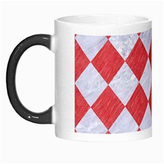 Square2 White Marble & Red Colored Pencil Morph Mugs by trendistuff