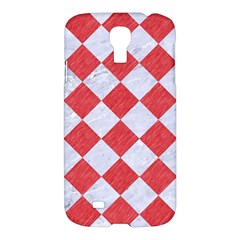 Square2 White Marble & Red Colored Pencil Samsung Galaxy S4 I9500/i9505 Hardshell Case by trendistuff