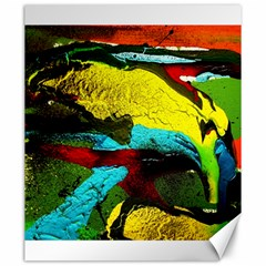 Yellow Dolphins   Blue Lagoon 3 Canvas 20  X 24
