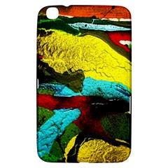 Yellow Dolphins   Blue Lagoon 3 Samsung Galaxy Tab 3 (8 ) T3100 Hardshell Case  by bestdesignintheworld