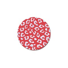 Skin5 White Marble & Red Colored Pencil (r) Golf Ball Marker by trendistuff