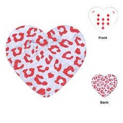 Skin5 White Marble & Red Colored Pencil Playing Cards (heart)  by trendistuff
