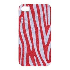 Skin4 White Marble & Red Colored Pencil (r) Apple Iphone 4/4s Hardshell Case by trendistuff