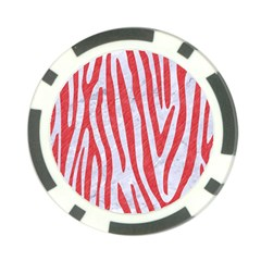 Skin4 White Marble & Red Colored Pencil Poker Chip Card Guard by trendistuff
