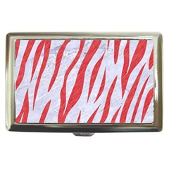 Skin3 White Marble & Red Colored Pencil (r) Cigarette Money Cases by trendistuff