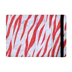 Skin3 White Marble & Red Colored Pencil (r) Ipad Mini 2 Flip Cases by trendistuff