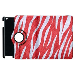 Skin3 White Marble & Red Colored Pencil Apple Ipad 2 Flip 360 Case by trendistuff