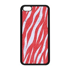 Skin3 White Marble & Red Colored Pencil Apple Iphone 5c Seamless Case (black) by trendistuff