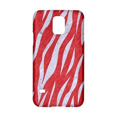 Skin3 White Marble & Red Colored Pencil Samsung Galaxy S5 Hardshell Case  by trendistuff