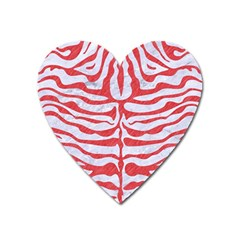 Skin2 White Marble & Red Colored Pencil (r) Heart Magnet by trendistuff