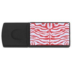Skin2 White Marble & Red Colored Pencil (r) Rectangular Usb Flash Drive by trendistuff