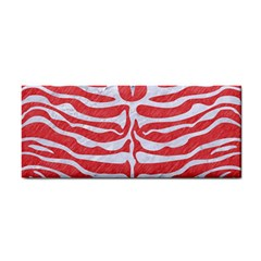Skin2 White Marble & Red Colored Pencil Cosmetic Storage Cases by trendistuff