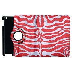 Skin2 White Marble & Red Colored Pencil Apple Ipad 2 Flip 360 Case by trendistuff