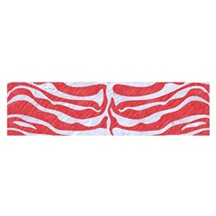 Skin2 White Marble & Red Colored Pencil Satin Scarf (oblong)