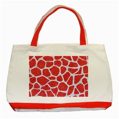 Skin1 White Marble & Red Colored Pencil (r) Classic Tote Bag (red) by trendistuff