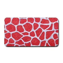 Skin1 White Marble & Red Colored Pencil (r) Medium Bar Mats by trendistuff
