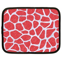 Skin1 White Marble & Red Colored Pencil (r) Netbook Case (large) by trendistuff