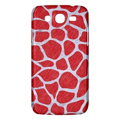 Skin1 White Marble & Red Colored Pencil (r) Samsung Galaxy Mega 5 8 I9152 Hardshell Case  by trendistuff