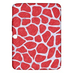 Skin1 White Marble & Red Colored Pencil (r) Samsung Galaxy Tab 3 (10 1 ) P5200 Hardshell Case  by trendistuff