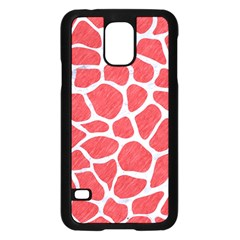 Skin1 White Marble & Red Colored Pencil (r) Samsung Galaxy S5 Case (black) by trendistuff