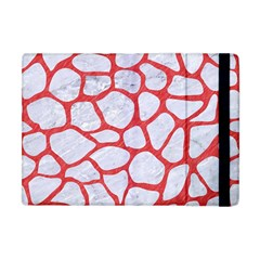 Skin1 White Marble & Red Colored Pencil Apple Ipad Mini Flip Case by trendistuff