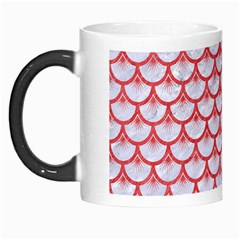 Scales3 White Marble & Red Colored Pencil (r) Morph Mugs by trendistuff
