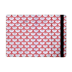 Scales3 White Marble & Red Colored Pencil (r) Ipad Mini 2 Flip Cases by trendistuff