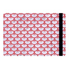 Scales3 White Marble & Red Colored Pencil (r) Apple Ipad Pro 10 5   Flip Case by trendistuff