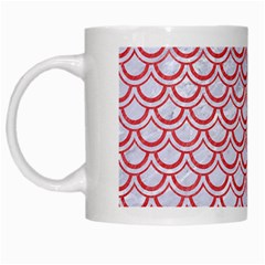 Scales2 White Marble & Red Colored Pencil (r) White Mugs by trendistuff