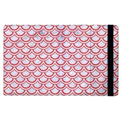 Scales2 White Marble & Red Colored Pencil (r) Apple Ipad 2 Flip Case by trendistuff