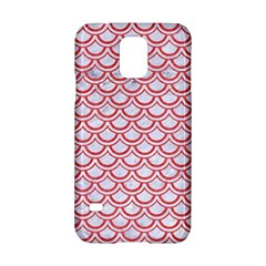 Scales2 White Marble & Red Colored Pencil (r) Samsung Galaxy S5 Hardshell Case  by trendistuff