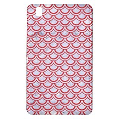 Scales2 White Marble & Red Colored Pencil (r) Samsung Galaxy Tab Pro 8 4 Hardshell Case by trendistuff