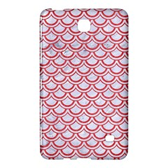 Scales2 White Marble & Red Colored Pencil (r) Samsung Galaxy Tab 4 (7 ) Hardshell Case  by trendistuff
