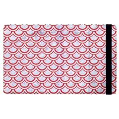 Scales2 White Marble & Red Colored Pencil (r) Apple Ipad Pro 9 7   Flip Case by trendistuff