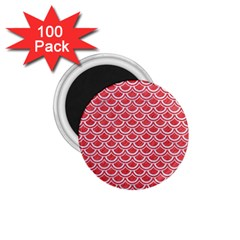 Scales2 White Marble & Red Colored Pencil 1 75  Magnets (100 Pack)  by trendistuff