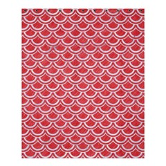 Scales2 White Marble & Red Colored Pencil Shower Curtain 60  X 72  (medium)  by trendistuff