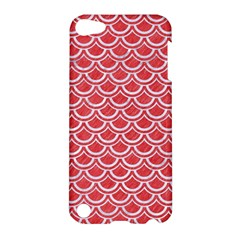 Scales2 White Marble & Red Colored Pencil Apple Ipod Touch 5 Hardshell Case by trendistuff