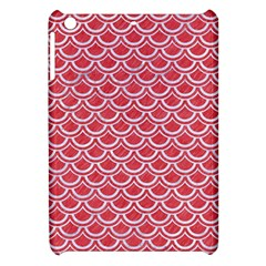 Scales2 White Marble & Red Colored Pencil Apple Ipad Mini Hardshell Case by trendistuff