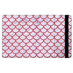 Scales1 White Marble & Red Colored Pencil (r) Apple Ipad 2 Flip Case by trendistuff