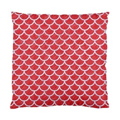 Scales1 White Marble & Red Colored Pencil Standard Cushion Case (two Sides) by trendistuff