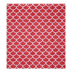 Scales1 White Marble & Red Colored Pencil Shower Curtain 66  X 72  (large)  by trendistuff