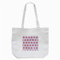 Royal1 White Marble & Red Colored Pencil Tote Bag (white) by trendistuff
