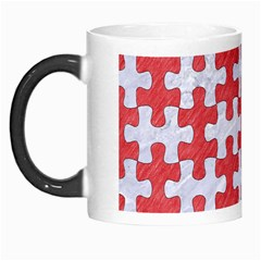 Puzzle1 White Marble & Red Colored Pencil Morph Mugs by trendistuff