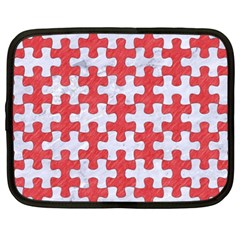 Puzzle1 White Marble & Red Colored Pencil Netbook Case (xxl)  by trendistuff