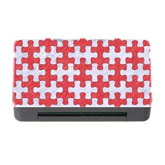Puzzle1 White Marble & Red Colored Pencil Memory Card Reader With Cf by trendistuff