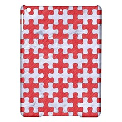 Puzzle1 White Marble & Red Colored Pencil Ipad Air Hardshell Cases by trendistuff